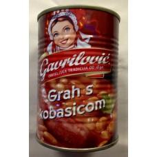 Beans with sausage - Grah sa kobasicom